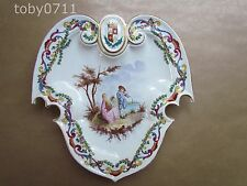 LILLE FRENCH FAIENCE ARMORIAL WALL HANGING/CABINET PLATE C1890