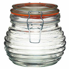 Tradizionale BEEHIVE HONEY Pot 650ml ERMETICA glass jar l'apicoltura preservare REGALO