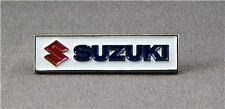 Metal Enamel Pin Badge Brooch Suzuki Motorbike Biker Logo Rectangle