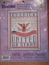 "Bucilla 43135 Counted Cross Stitch ""United We Stand Kit""   2001"