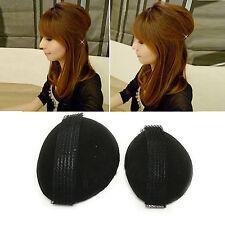 2 Haarkissen Haar Volumen Schaumstoff Kissen mit Klettband Frisurenhilfe