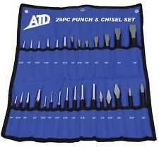 ATD 29pc Master Punch and Chisel Set with Roll Pouch #729