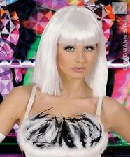 Blanco Lady Gaga estilo Fancy Dress Peluca Bob Pop Star Glamour Girl