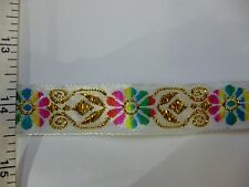 Jacquard Trim Tape with Embroidery, Ribbon Trim Fringe, Crafts DIY Sew on 4yds