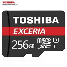 H.Q 256 GB TOSHIBA Micro SD/TF Card Drive Flash Memory Class10 + Adapter Reader