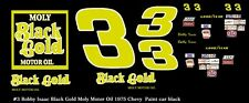 #3 Richard Childress Black Gold Chevy 1976 1/32nd Scale Slot Car Decals