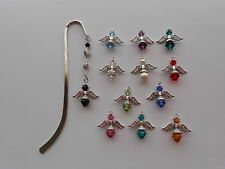 SWAROVSKI CRYSTAL ANGEL BIRTHSTONE BOOKMARK