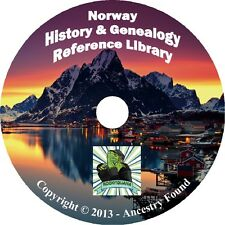 34 old books NORWAY Norwegian History & Genealogy Family Tree