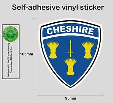 Cheshire county shield - Printed colour vinyl sticker graphic - PRNT1066