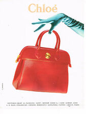PUBLICITE ADVERTISING 064  1992  CHLOE   collection maroquinerie sacs