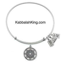 Wind & Fire Ship's Wheel Charm Silver Wire Stackable Bangle Bracelet Made In USA