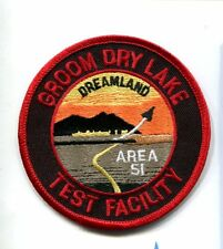 AREA 51 GROOM DRY LAKE TEST FACILITY USAF Base Squadron Jacket Patch