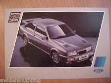 Ford Sierra RS Cosworth 3 Door Factory Postcard May 1986 ref SP1326