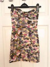 Topshop Multi Coloured Bodycon Boobtube Dress Size 8