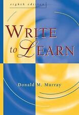 Write to Learn (with InfoTrac ), Donald M. Murray, Good Book