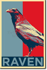 THE RAVEN ART PHOTO PRINT (OBAMA HOPE) POSTER GIFT EDGAR ALLEN POE