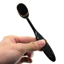 Oval Flat Foundation Face Powder Contour Make-up Cream Liquid Brush Tool WK