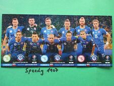 Road to UEFA Euro 2016 Line Up Cards Slovenska Republic  Adrenalyn Panini France