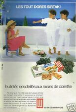 Publicité advertising 1986 Les Biscuits LU Sirtaki