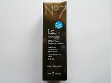 No7 Stay Perfect  Foundation HONEY 30ml New/Boxed