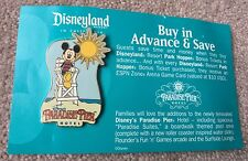 Disney Travel Agent Paradise Pier Hotel LE Promotional Pin Mickey Lifeguard HTF
