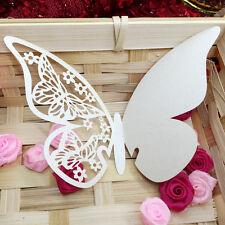 50tlg Platzkarten Tischkarten Glas Namenkarte Schmetterling Hochzeit Dekoration