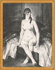 Evening, Nude on Bed George Wesley Bellows Nackte Frau Akt Bett Abend B A1 02054