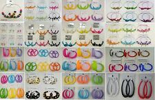 Wholesale Jewelry lot 10  pairs Beautiful Color Fashion Hoop Earrings  Su-195