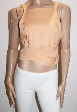 Luvalot Designer Golden Peach High Neck Cross Over Top Size 12-M BNWT #SR68
