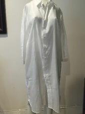 PREOWNED PRADA WHITE TUNIC COVER UP , COTTON, SIZE 44!! LOICAL