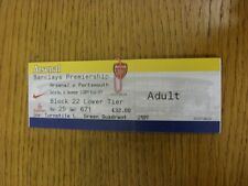 16/12/2006 Ticket: Arsenal v Portsmouth [Yellow Ticket] . Thanks for viewing thi