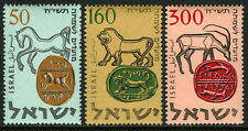 Israel 129-131, MNH. Ancient Seals: Horse, Lion, Gazelle, 1957