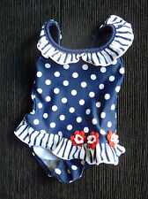 Baby clothes GIRL 0-3m Young Dimension navy/white spot swimsuit COMBINE POST!