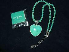 Desert Rose Trading Jay King Sterling 925 Turquoise Heart Pendant Necklace HSN