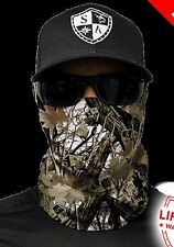Salt Armour Snow Forest Camo Face Shield Sun Mask Balaclava Neck Gaiter Bandana