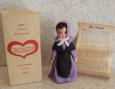 VINTAGE AMISH DOLL Little Girl LANCASTER COUNTY PA LAVENDER PURPLE ORIGINAL BOX