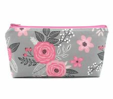 Cosmetic Bag, Zip Pouch, Makeup Bag, Pencil Case, Small Bag - Pink Flower Bloom