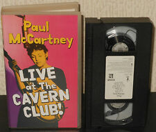 PAUL McCARTNEY Live at the Cavern Club 1999 VHS Original Beatles Video