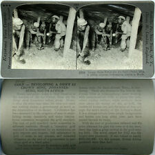 Keystone Stereoview of The CROWN GOLD MINE, SOUTH AFRICA From 600/1200 Card Set