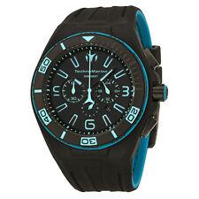 New Mens Technomarine Night Vision 112003 Black Blue Military Sport Watch