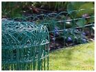 NEW GARDEN BORDER FENCE 400mm x 6m PVC GREEN WIRE MESH EDGING EDGE LAWN FENCING!