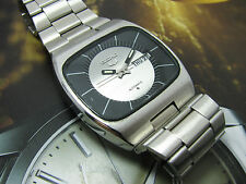 VINTAGE SEIKO 6309 HUGE TV CASE AUTOMATIC MEN'S WATCH SILVER DIAL DRESS.