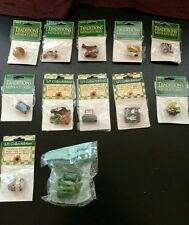 Lot 12 NEW Traditions Miniatures Li'l Collectibles Resin Doll House shadow box