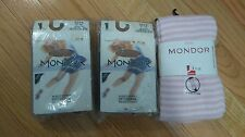 NEW Mondor 3374 257 XL Ice Figure Skating Cotton Tights & Pink Leggings Lot of 3