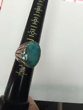Vintage Mens Bell Trading Post Turquoise Sterling Silver Size 12.