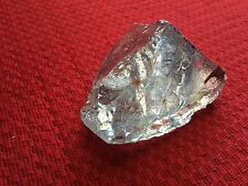 SLAG GLASS ROCK CRYSTAL ART CULLET*#132 CLEAR w/BLU/RED/ORNG*GLASS CHUNK DISPLAY