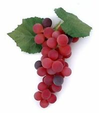 "Artificial 7.5"" Bunch of Grapes, 3 Color Choices Fake Grape Concord Red Green"