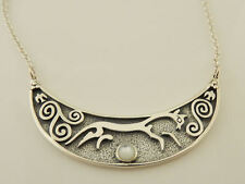 EPONA Chalk Horse of Uffington Necklace .925 Sterling Silver RHIANNON Goddess