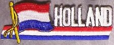 Embroidered International Patch National Flag of Holland Netherlands NEW stream