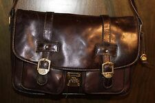 VINTAGE HCL BROWN LEATHER CROSS-BODY SHOULDER STYLE BAG